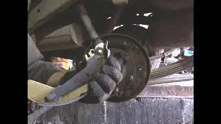замена задних тормозных колодок фронтера А +кат№