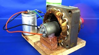 Download Video New free energy electric dc motor generator 220v AC to 12V DC - DIY Experiments projects at school MP3 3GP MP4