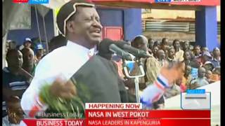 Raila Odinga gets heroic welcome by a mammoth of supporters in West Pokot