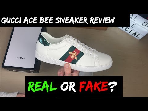 GUCCI ACE BEE SNEAKERS REVIEW (REAL OR FAKE!?)