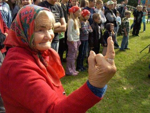 Бабушка из России-ПУТИН ты бесс и хуйло!
