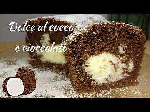 Dolce al cocco e cioccolato Coconut and chocolate cake Reciepe Cooking & Cooking