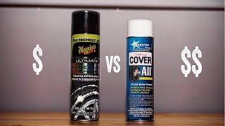 CHEAP VS EXPENSIVE: COVERALL TIRE SHINE VS MEGUIARS INSANE TIRE SHINE COATING