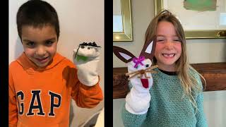1st Grade in action – Sock puppet