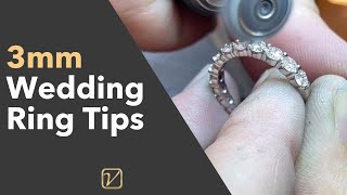 Wedding Band Tips – How I Make A 3mm Wedding Ring GORGEOUS