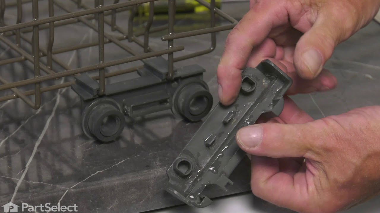 Replacing your General Electric Dishwasher LOWER RACK ROLLER