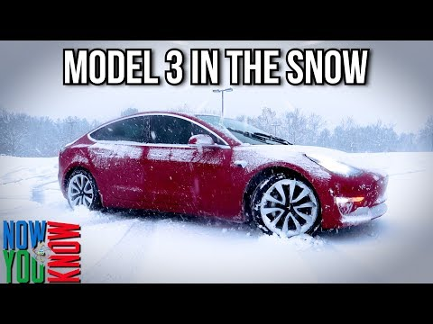How The Tesla Model 3 Handles In The Snow (All Season Tires)