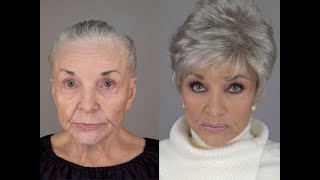 80 Year Old Recreates Her Younger Face: A MAKEOVERGUY® Makeover