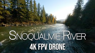 SNOQUALMIE RIVER & NORTH BEND FPV DRONE FOOTAGE | Cinematic First-Person View Drone Washington State
