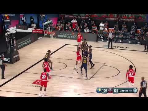 James Harden Clutch Two Pointer against Pacers vs Rockets