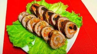 Праздничная Закуска Мясные Рулетики с Очень Вкусной Начинкой Простой Рецепт Мясной Закуски
