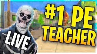LIVE FORTNITE PRO   TOURNEY   2 min delay   #1 Ranked PE Teacher (Fortnite Battle Royale)