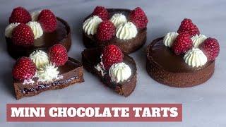 Mini Chocolate Tarts Bakery Style  - Culinary Arts Pastry