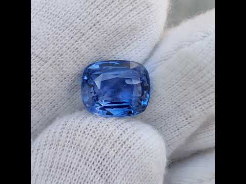 GII Certified Natural Blue Sapphire 5.06 Ct