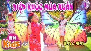 Điệp Khúc Mùa Xuân ♫ Bé Tina - Mina ♫ Nhạc Tết Thiếu Nhi Vui Nhộn Chào Xuân Canh Tý