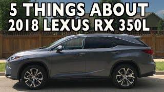 5 Things About The 2018 Lexus RX 350L on Everyman Driver | Kholo.pk