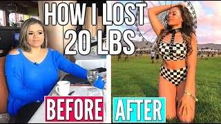 HOW I LOST 20 LBS IN TWO MONTHS!! How To Lose Weight! | Krazyrayray