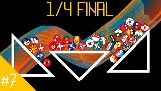 Play Off 1/4 #1 COUNTRYBALLS MARBLE RACE   Marblelympics Season 5