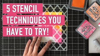 5 Stencil Techniques You Have To Try! | Justine Hovey For Scrapbook.com