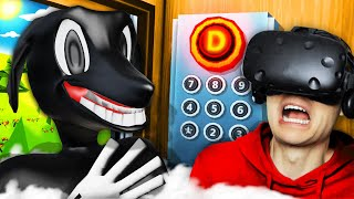 NEW Visiting CARTOON DOG TOWN In VIRTUAL REALITY ELEVATOR (Funny Floor Plan VR Gameplay)