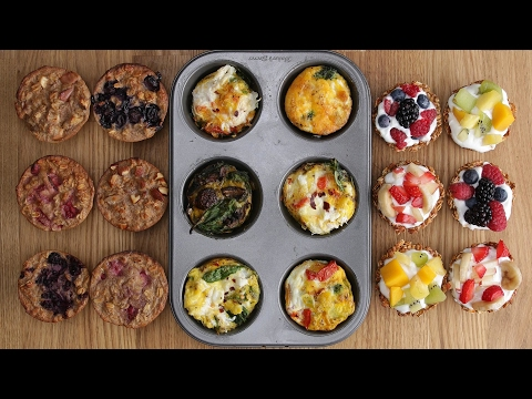Video Three Healthy Breakfasts In A Muffin Tin