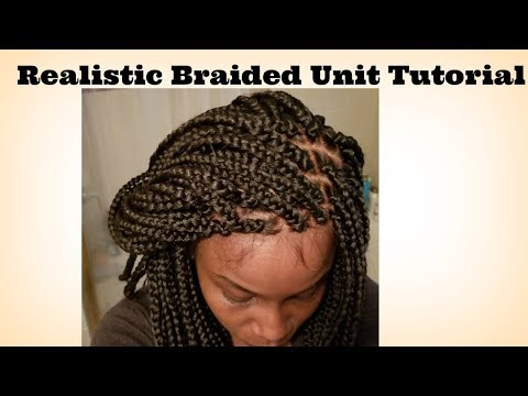 How to Make a Braided Wig with a lace Frontal Tutorial