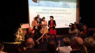 preview picture of video 'Najat Vallaud-Belkacem dedicates Sciences Po at Saint-Germain-en-Laye'