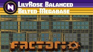 Factorio Engineering - LILYROSE BEAUTIFUL BALANCED BELTED MEGABASE - Community Map Review