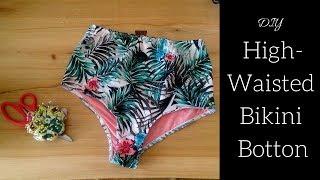 DIY EASY High Waisted Bikini Bottoms (with Pattern)
