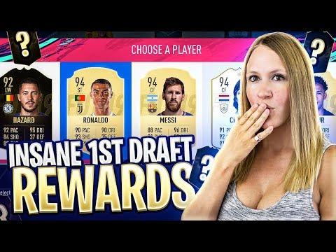 INSANE INFORM FUT DRAFT REWARD IN MY FIRST FUT DRAFT! FIFA 19