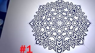 How To Draw Islamic Geometric Patterns - 8 Phases Of The Moon #1