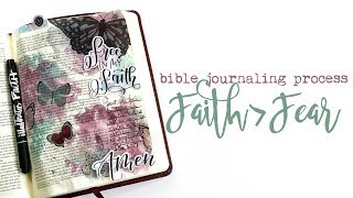 Bible Journaling Process | Faith Over Fear