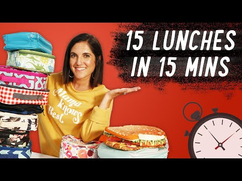 Mom Makes 15 Back to School Lunches in 15 Minutes | Mom Vs
