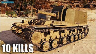 Артавод СДЕЛАЛ БОЙ 🌟 10 ФРАГОВ 🌟 World of Tanks лучший бой на арте 212А