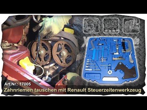 Zahnriemen wechsel Renault Motor 1,4 1,6 16V Code K4J K4M F4P F4R Steuerzeiten Spezial Werkzeug