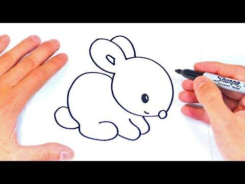 Cómo dibujar un Conejito Paso a Paso | Dibujos Fáciles