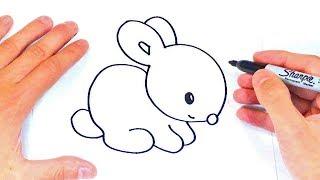 Cómo Dibujar Un Conejito Paso A Paso   Dibujos Fáciles