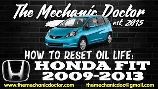 How to Reset Oil Light: Honda Fit 2009, 2010, 2011, 2012, 2013