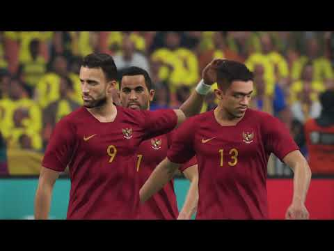 COLOMBIA VS INDONESIA fase knockout Piala Dunia | PES 2019 Difficulty : Superstar
