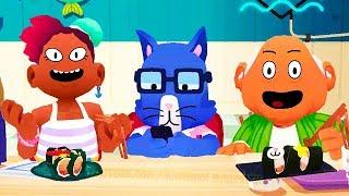 ТОКА КУХНЯ СУШИ #1 в ГОТОВКА ЧЕЛЛЕНДЖ Мультяшная игра для детей Игровой мультик Toca Kitchen Sushi