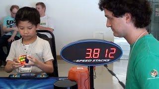 7 yrs old boy Solves Rubik's Cube 8.72 sec