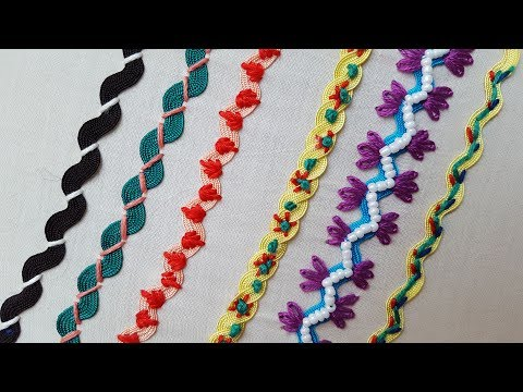 6 Ric Rac Basic Stitches | Hand Embroidery for Beginners by Shehla kanwal
