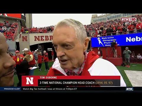 Tom Osborne Interview - Nebraska Spring Fooball