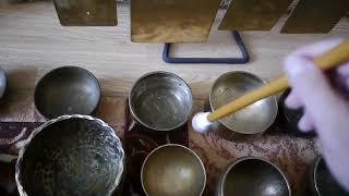 ПОЮЩИЕ ЧАШИ. Тибетские чаши. Три набора чаш. Медитация. Звукотерапия. Singing bowls sound therapy