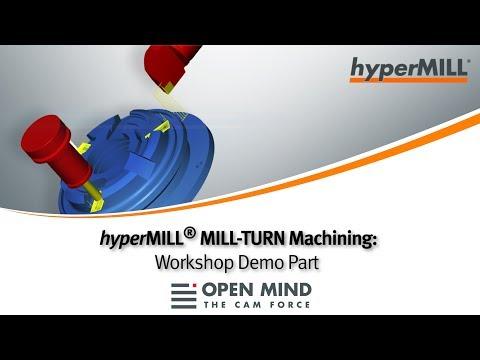 hyperMILL® MILL-TURN Machining: Demo-Part Grob
