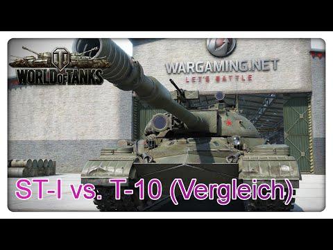 World of Tanks: ST-1 vs. T-10 (Vergleich)