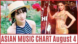 ASIAN MUSIC CHART August 2016 Week 4