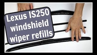 How to Replace Lexus and Toyota Windshield Wiper Blade Refills