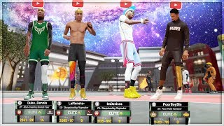 I HOSTED THE FIRST YOUTUBER CONQUERER IN A CUSTOM PARK on nba 2k19 w Duke Denis, LaMonsta, and More
