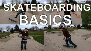 🔴 SKATEBOARDING VERY BASICS HOW TO START SKATING, PUSH, TURN, n TIC TAC